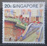 Poštovní známka Singapur 1990 Řeka Singapore Mi# 600