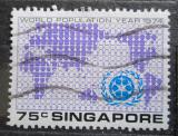 Poštovní známka Singapur 1974 Mapa světa Mi# 220 Kat 3€