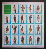 Poštovní známky Adžmán 1972 Vojenské uniformy neperf. Mi# 1793-1812 B Kat 20€