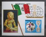 Poštovní známka Manáma 1970 MS ve fotbale přetisk neperf. Mi# Block 62 B Kat 9€