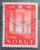 Poštovní známka Norsko 1954 Telegraf, 100. výročí Mi# 388