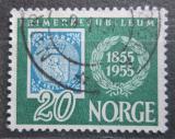 Poštovní známka Norsko 1955 První norské známky, 100. výročí Mi# 390