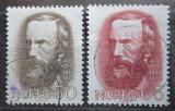Poštovní známky Norsko 1968 Aasmund Olavsson Vinje, básník Mi# 568-69