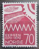 Poštovní známka Norsko 1970 Bergen, 900. výročí Mi# 609