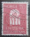 Poštovní známka Norsko 1970 OSN, 25. výročí Mi# 611