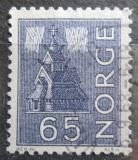Poštovní známka Norsko 1963 Kostel a polární záře Mi# 505