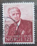 Poštovní známka Norsko 1979 Johan Falkberget, spisovatel Mi# 797