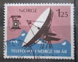 Poštovní známka Norsko 1980 Pozemní satelit Mi# 815