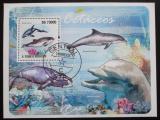 Poštovní známka Svatý Tomáš 2009 Velryby a delfíni Mi# Block 733