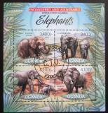 Poštovní známky Uganda 2012 Sloni Mi# 2969-72 Kat 13€