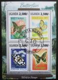 Poštovní známky Uganda 2013 Motýli na známkách Mi# 3127-30 Kat 12€
