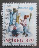 Poštovní známka Norsko 1989 Evropa CEPT, stavba sněhuláka Mi# 1019