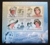 Poštovní známky Burundi 2012 Princezna Diana Mi# 2665-68 Kat 10€