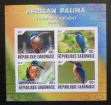 Poštovní známky Gabon 2017 Ledňáček říční neperf. Mi# N/N