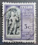 Poštovní známka Cejlon 1954 Starobylý strážný kámen Mi# 266