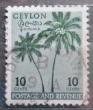 Poštovní známka Cejlon 1951 Kokosové palmy Mi# 268