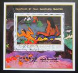 Poštovní známka Manáma 1971 Umění, Paul Gauguin Mi# Block 169 A