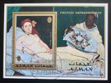 Poštovní známka Adžmán 1971 Umění, Manet Mi# Block 274 A