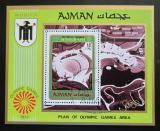 Poštovní známka Adžmán 1971 LOH Mnichov, olympijský stadión Mi# Block 234 A