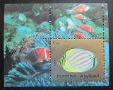 Poštovní známka Fudžajra 1973 Ryby Mi# Block 141 A