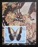 Poštovní známka Šardžá 1972 Motýli neperf. Mi# Block 118