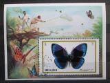 Poštovní známka Umm al-Kuvajn 1972 Motýli Mi# Block 50