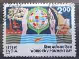 Poštovní známka Indie 1977 Mezinárodní den životního prostředí Mi# 726