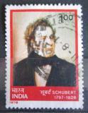 Poštovní známka Indie 1978 Franz Schubert, skladatel Mi# 781
