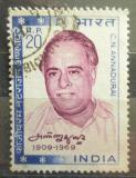 Poštovní známka Indie 1970 C. N. Annadurai, novinář Mi# 493