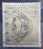 Poštovní známka Indie 1961 První letecké poštovní razítko Mi# 320