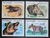 Poštovní známky Nikaragua 1984 Chráněná zvířata Mi# 2549-52