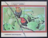 Poštovní známka Benin 1999 Ptáci Mi# Block 45