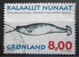 Poštovní známka Grónsko 1997 Monodon monoceros Mi# 308