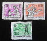 Poštovní známky Vietnam 1965 Vznik republiky, 20. výročí Mi# 394-96