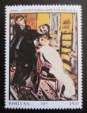 Poštovní známka Bhútán 1987 Umění, Marc Chagall Mi# 1039