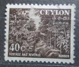 Poštovní známka Cejlon 1954 Plantáž kaučuku Mi# 271