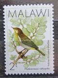 Poštovní známka Malawi 1988 Budníček žlutořitý Mi# 502