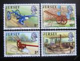 Poštovní známky Jersey 1975 Farmářské nářadí Mi# 114-17