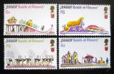 Poštovní známky Jersey 1970 Bitva květin Mi# 30-33 Kat 16€
