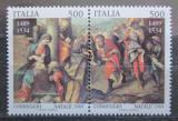 Poštovní známky Itálie 1989 Vánoce, umění, Antonio Allegri Mi# 2099-2100