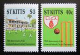 Poštovní známky Svatý Kryštof 1988 Kriketový turnaj Mi# 233-34 Kat 5€