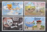 Poštovní známky Šalamounovy ostrovy 1987 Transport a komunikace Mi# 663-66