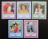 Poštovní známky Tristan da Cunha 1988 Královská svatba přetisk Mi# 433-37