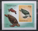 Poštovní známka Guinea-Bissau 2010 Želvy neperf. DELUXE Mi# 5026 B Block