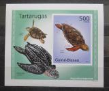 Poštovní známka Guinea-Bissau 2010 Želvy neperf. DELUXE Mi# 5027 B Block