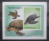Poštovní známka Guinea-Bissau 2010 Želvy neperf. DELUXE Mi# 5028 B Block