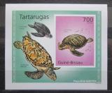 Poštovní známka Guinea-Bissau 2010 Želvy neperf. DELUXE Mi# 5029 B Block