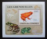 Poštovní známka Komory 2009 Žáby DELUXE Mi# 2165 Block