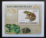 Poštovní známka Komory 2009 Žáby DELUXE Mi# 2166 Block