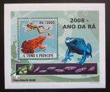 Poštovní známka Svatý Tomáš 2008 Žáby DELUXE Mi# 3353 Block